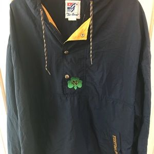 Vintage Notre dame navy blue and yellow jacket